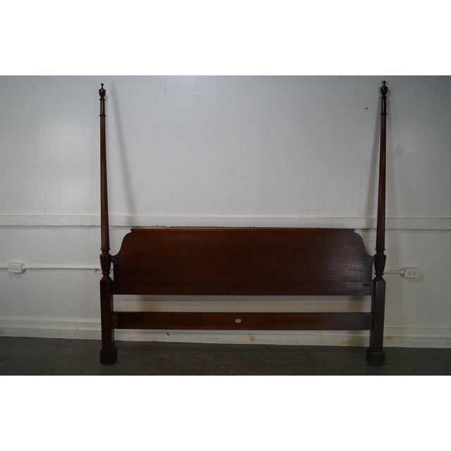 Baker Mahogany Chippendale Style King Size Poster Bed - Image 4 of 10