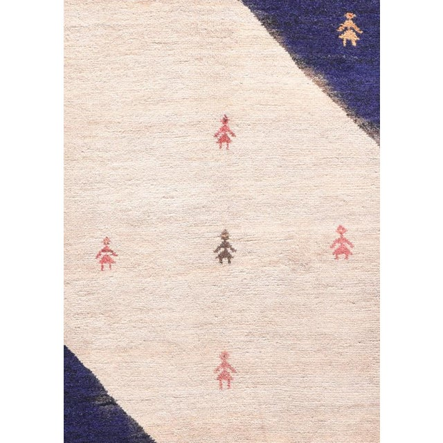 """Up for sale is a Semi-Antique Persian Gabbeh Rug, Size 2'7"""" x 3'9"""", Circa 1960's"""