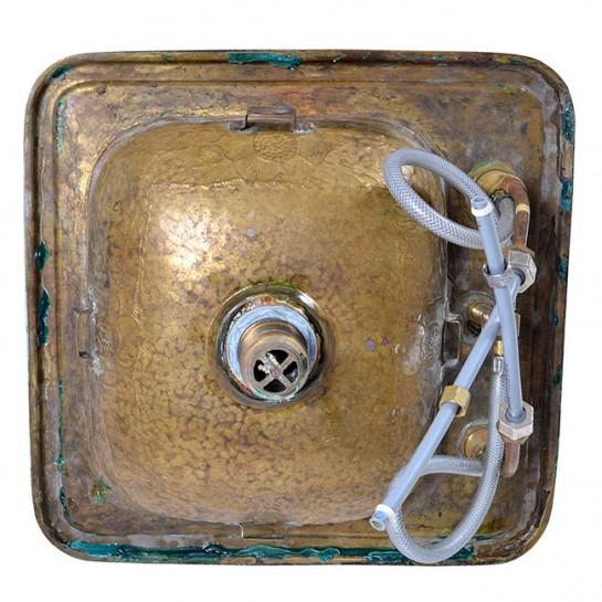 1920s Art Deco Brass Sink For Sale - Image 11 of 12
