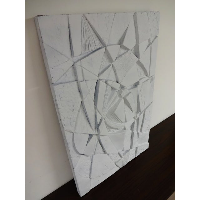 Mid-Century 3D Geometric Wall Hanging Sculpture - Image 8 of 10