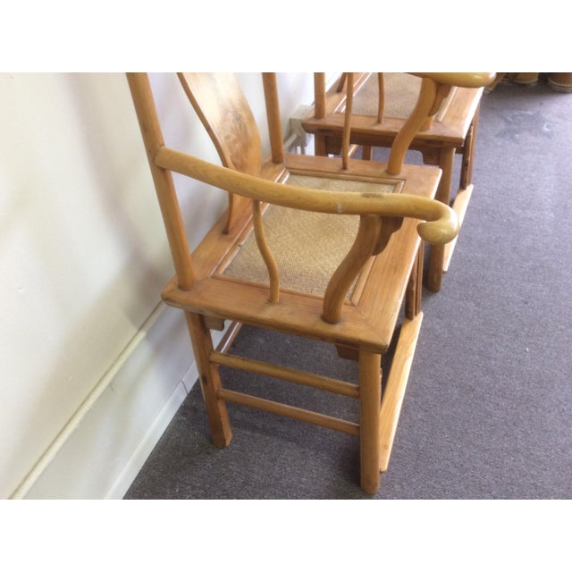 Pair of Antique Chinese Armchairs For Sale - Image 9 of 13