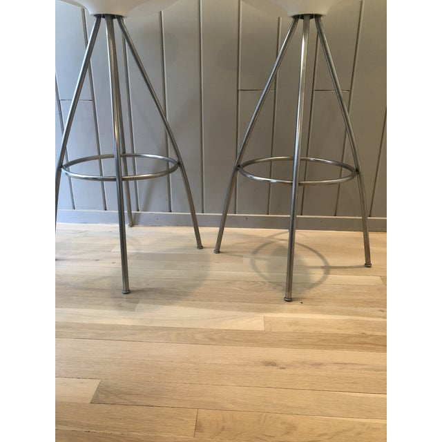 White Jesús Gasca for Stua Onda Bar Stools - a Pair For Sale - Image 8 of 10