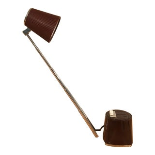 Mid-Century Modern Mobilette Collapsible Brown Shade Metal Desk Lamp
