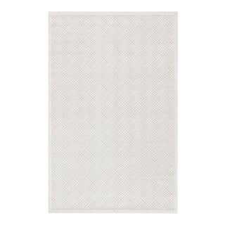 """Jaipur Living Thatch Geometric White Area Rug 7'6""""X9'6"""" For Sale"""