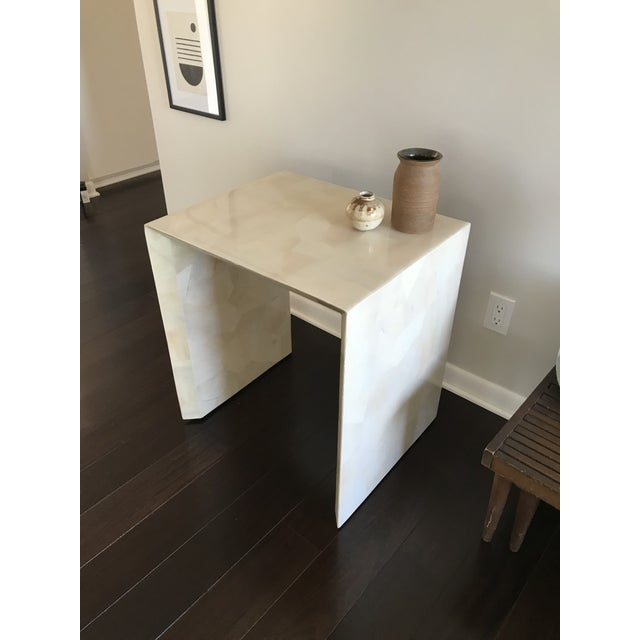 Modern Made Goods Sleek Faux Horn Side Table For Sale - Image 9 of 13