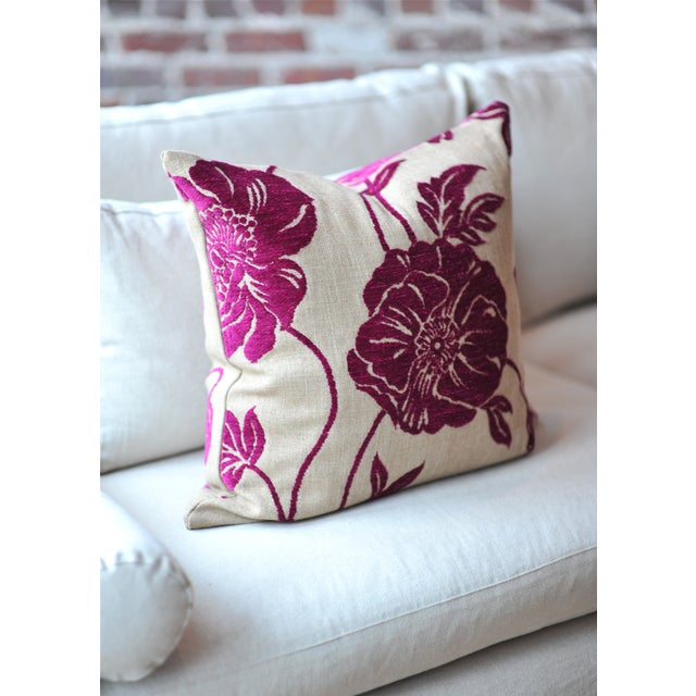 We're falling for the breezy look of these ultrafeminine, pink chenille poppy pillow covers. Very soft and comfortable!...