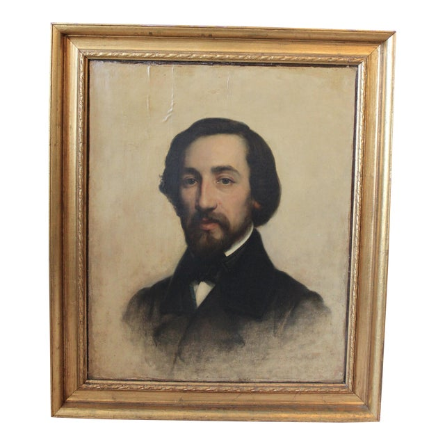 Alfred De Musset Portrait Painting For Sale