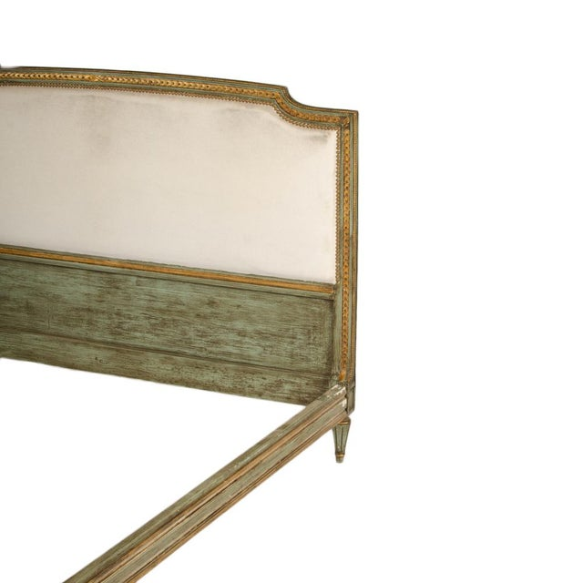1940s French Louis XVI Style Painted Queen Size Bedframe For Sale - Image 4 of 7