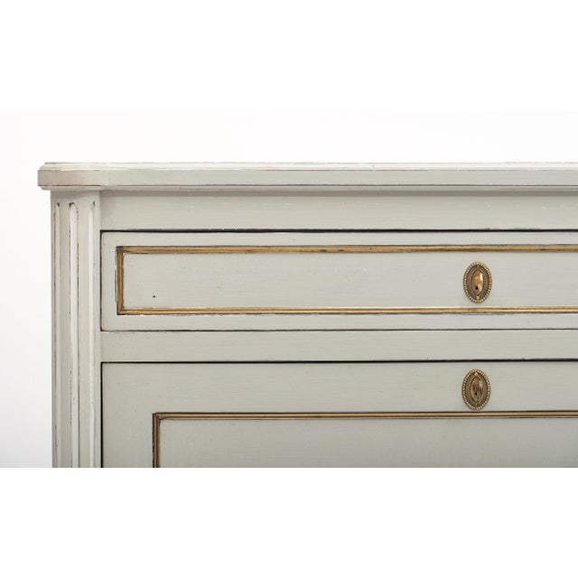 Painted French Antique Secrétaire For Sale In Austin - Image 6 of 11