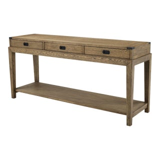 Wood Console Table | Eichholtz Military For Sale