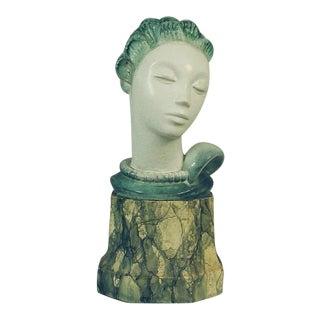 """""""Important"""" Art Deco Danish Porcelain Bust For Sale"""