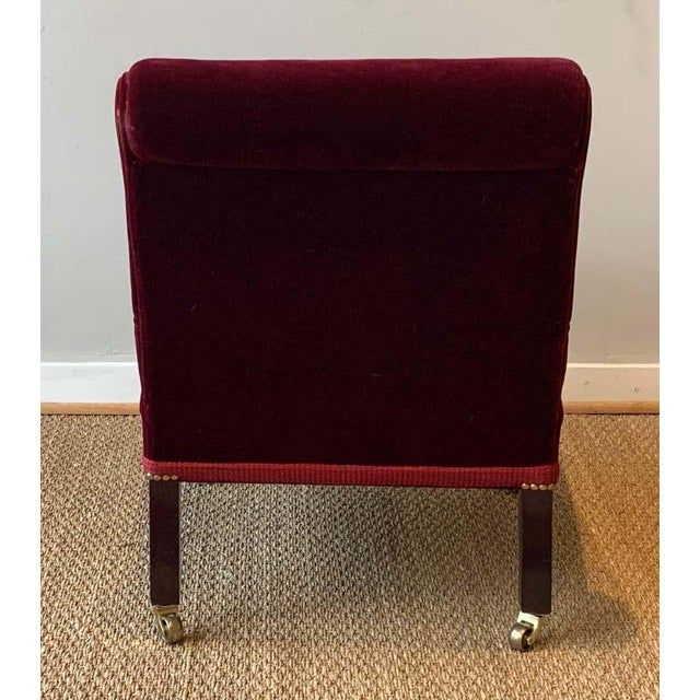 1990s George Smith Slipper Chair For Sale - Image 5 of 12