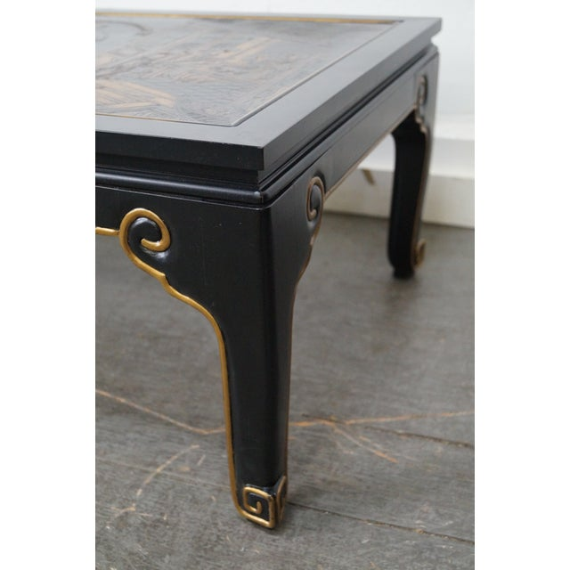 Kindel Chinoiserie Painted Ebonized Coffee Table - Image 10 of 10