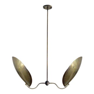 Gallery L7 'Chiton-2' Raw Brass Chandelier For Sale