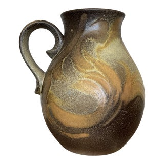 1980s Vintage German Ruscha Art Pottery Pitcher For Sale