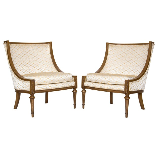 Slipper Chairs by Hibriten, A Pair - Image 9 of 10