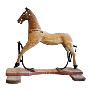 19th Century French Wooden Horse For Sale