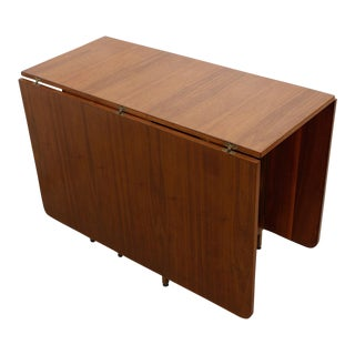 Harvey Probber Style Double Drop-Leaf Table For Sale