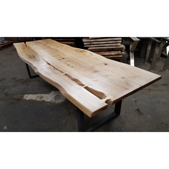 Handcrafted Siberian Ash Wood Plank Table - Image 2 of 6