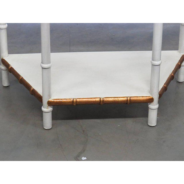 Asian Modern design paint decorated console table.