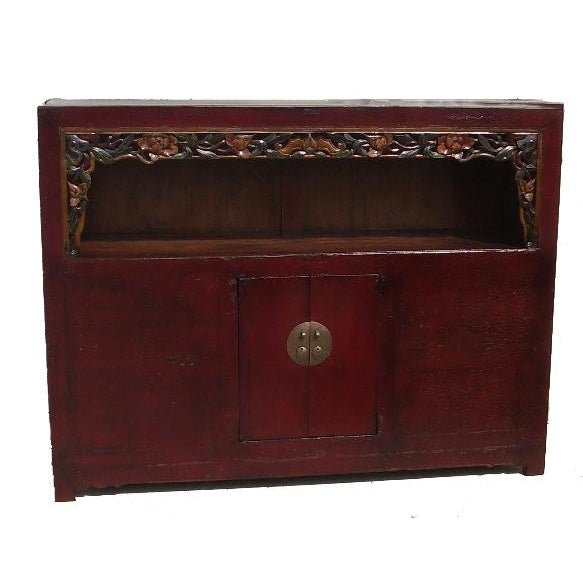 Antique Chinese Carved Shelf Sideboard For Sale - Image 11 of 11