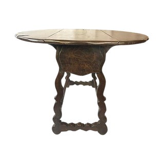 Spanish Drop-Leaf Table w Mouton Legs
