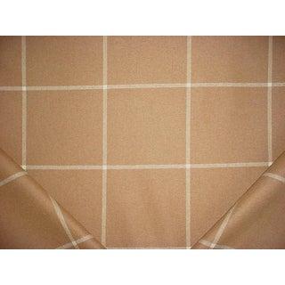 Traditional Ralph Lauren Westcliff Tattersal Camel Tartan Upholstery Fabric - 5-5/8y For Sale