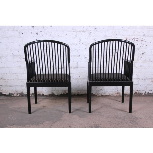 Wood Stendig Andover Black Spindle Armchairs - a Pair For Sale - Image 7 of 13
