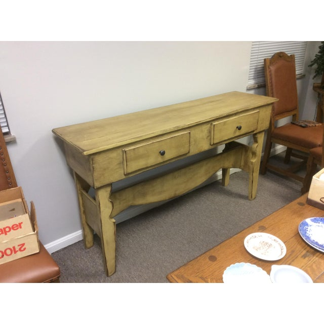 Yellow 1980s Shabby Chic Sideboard Buffet For Sale - Image 8 of 8