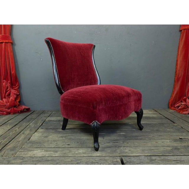 Mid-Century Modern American Mid-Century Scrolled Leg Slipper Chair For Sale - Image 3 of 11