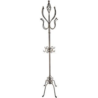 Antique Wrought Iron Coat Rack