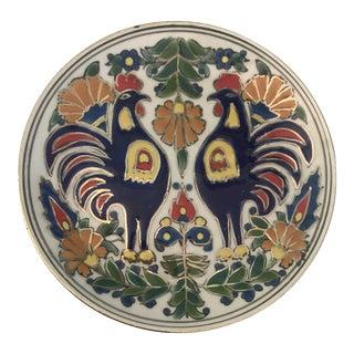 Vintage Manousakis-Keramik Rodos Greece Hand Painted Hanging Plate