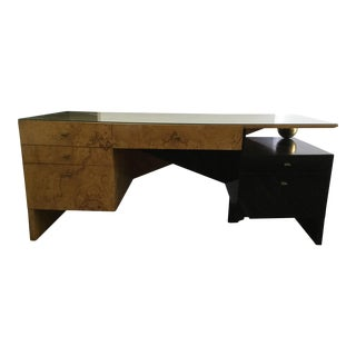 Italian Burl Wood Desk