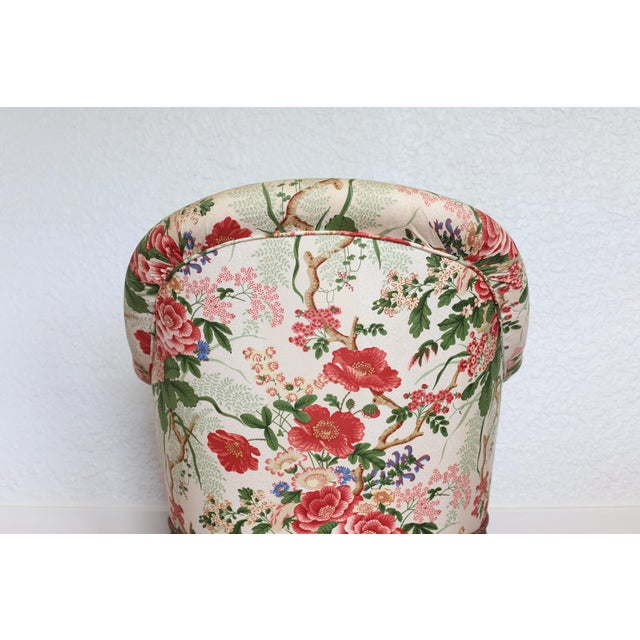 1930s Napoleon III Style Floral Boudoir Chair With Bullion Fringe For Sale - Image 5 of 12