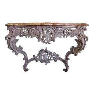 French Louis XV Style Console For Sale