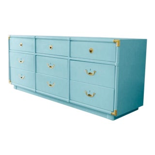 Vintage Lacquered Campaign Dresser by Drexel For Sale