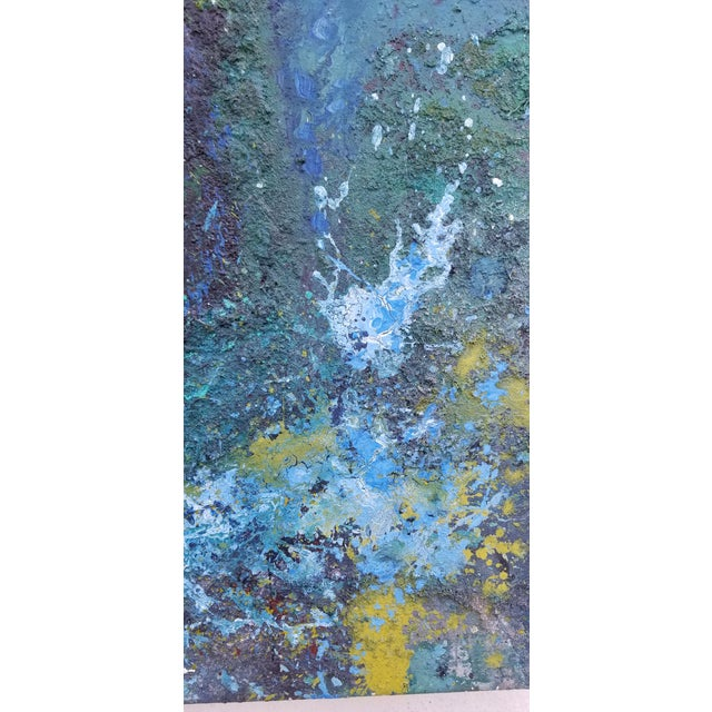 Large Art Impasto Texture by Listed Artist Koheem For Sale - Image 10 of 13