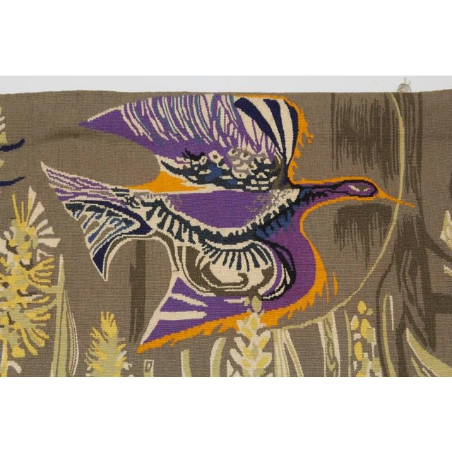 Belgian Exquisite Tapestry by Mary Dambiermont, Belgian For Sale - Image 3 of 5
