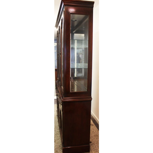 Drexel Heritage Carleton Cherry China Cabinet For Sale - Image 5 of 11