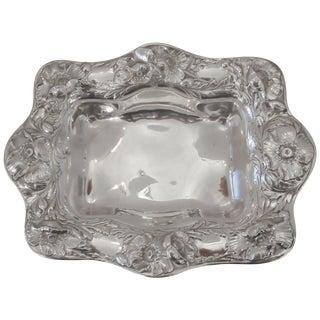 20th Century Art Nouveau Gorham Sterling Silver Repousse Scalloped Edge Bowl