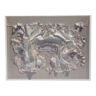 Large Scale Mixed Media 3-D Art in Lucite Box Frame Signed For Sale