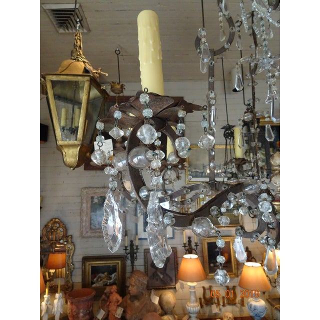 Italian 18th Century Italian Crystal Chandelier For Sale - Image 3 of 13