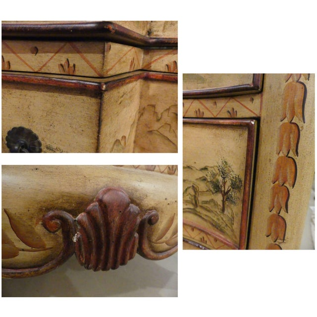 Chinoiserie Paint Decorated Sink Vanity For Sale - Image 11 of 13
