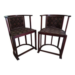 Belgian Secessionist Side Chairs - a Pair For Sale