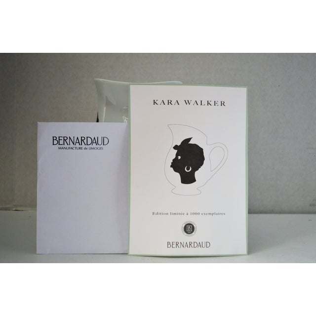 Ceramic Bernardaud Kara Walker Silhouettes Limited Edition Pitcher For Sale - Image 7 of 7