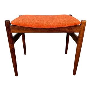 Vintage Danish Mid Century Modern Rosewood Ottoman For Sale
