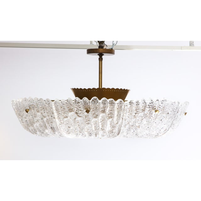 Orrefors Massive Carl Fagerlund Pendant Fixture for Orrefors For Sale - Image 4 of 13