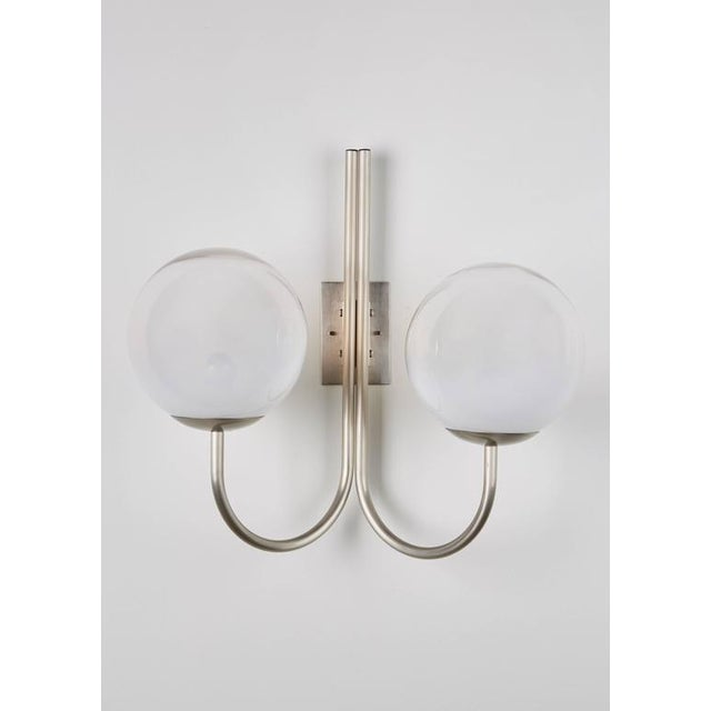 Four Opaline Glass Wall Lights - Image 3 of 9