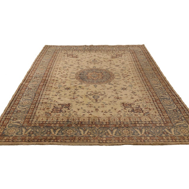 Turkish area rug handwoven from the finest sheep's wool. It's colored with all-natural vegetable dyes that are safe for...