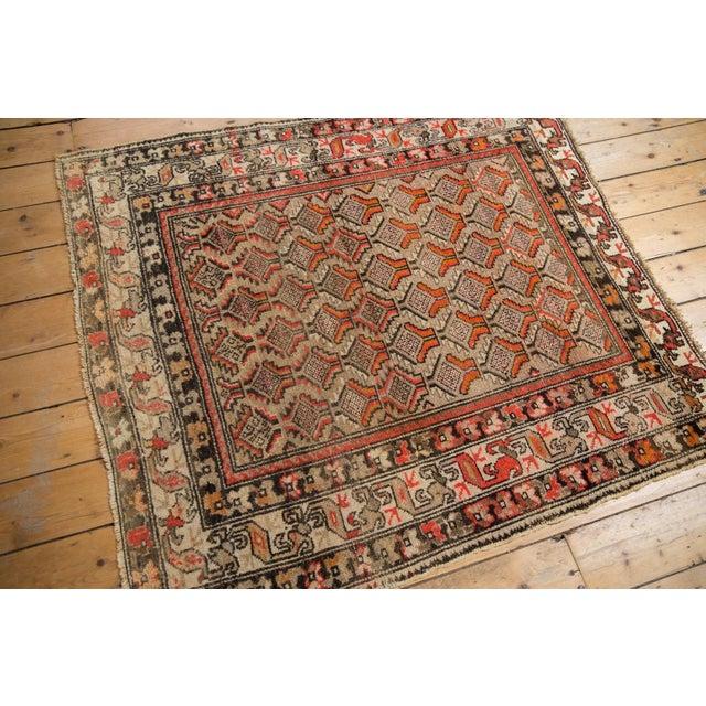 "Islamic Antique Hamadan Square Rug - 4'1"" x 4'9"" For Sale - Image 3 of 12"